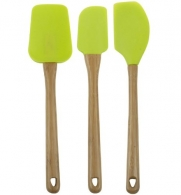 Core Bamboo Classic 3 Piece Spoontula, Scraper & Spreader Kitchen Utensil Tool Set