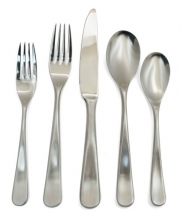 Hampton Forge Stephanie Satin 20-Piece 18/0 Forged Flatware Set, Service for 4
