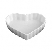 HIC Porcelain Heart Cr?me Brulee Dish 5- by 1-inch