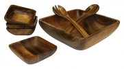 Mountain Woods 7 Piece Square Acacia Bowl Set