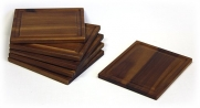 6 Piece 7.5 X 6.5 Acacia Cutting Board Set by Mountain Woods