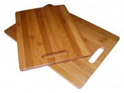 Mountain Woods Simply Bamboo 2 Piece Valencia Cutting Board Set