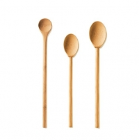Bambu Kitchen Mixing Spoon Assortment, Natural Bamboo