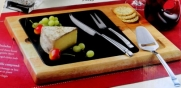 Hampton Signature 4 Piece Granite and Wood Cheese Set by Hampton Forge