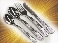 40 Sets - Plastic Silverware, Looks Like Silver Heavyweight Disposable Flatware (160 Pc. Cutlery Set)