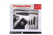 Kitchenaid Knife Set Gourmet 9 Pieces with Block