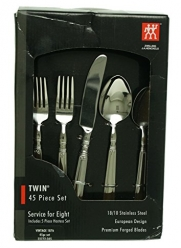 Zwilling JA Henckels Vintage 1876 45-Piece Flatware Set, Service for 8, Plus Hostess Serving Set