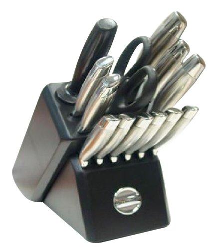 Kitchenaid ka1ss14tb knife block sets 14 piece black for Kitchenaid 6 set
