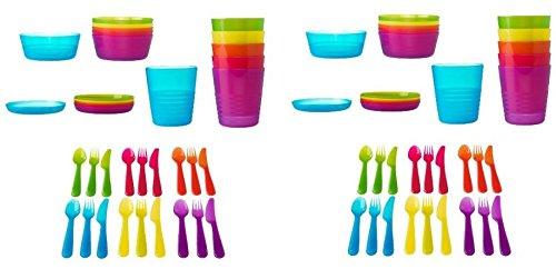 Ikea 72 Pcs Kalas Kids Plastic Bpa Free Flatware Bowl